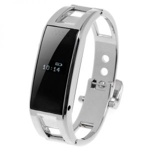 Yonis Montre connectée Bluetooth iPhone Android OLED Appel SMS Podomètre