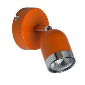 MW-Light 546020901 Spot Mural Orientable Moderne en Métal couleur Orange et Chrome Brillant pour Chambre Enfant Salle de Bain Couloir 1x35W GU10 incl.