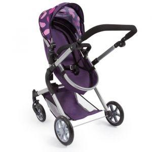 Bayer Landau pour poupée Neo Star prune avec sac à bandoulière et panier d'achat intégré réglable - convertible poussette