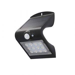 Unitec APPLIQUE MURALE SOLAIRE LED AVEC DÉTECTEUR DE MOUVEMENT À 120° | 1,5 W | 220 LM | 4000 K | LAMPE SOLAIRE D'EXTÉRIEUR | IP -
