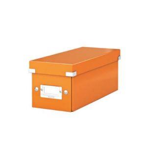 Leitz 6041-00-44 - Boîte de rangement Click & Store, format CD, en PP, coloris orange métallique