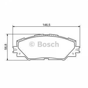 Bosch 4 plaquettes de frein 0986494174