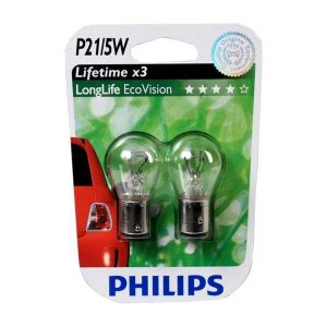 Philips 2 Ampoules P21/5W LongLife Ecovision 21W/5W 12 V