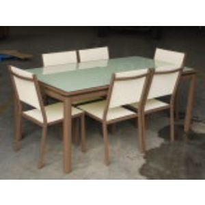 Table de jardin Philadelphie en aluminium avec 6 chaises