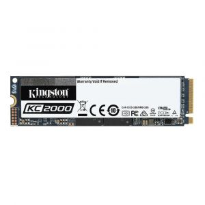 Kingston KC2000 - Disque SSD - chiffré - 2 To - interne - M.2 2280 - PCI Express 3.0 x4 (NVMe) - AES 256 bits - TCG Opal Encryption 2.0