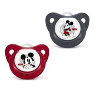 Nuk 10729986 - 2 sucettes physiologiques Mickey en silicone T1