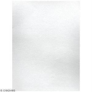 DECAdry Lot de papier texturé A4 - Blanc - Petits points - 20 pcs