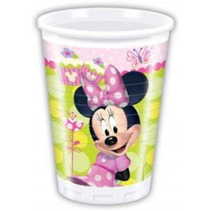 8 gobelets en plastique Minnie Bow-Tique