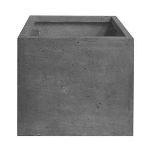 Pot cubique lisse 30 x 30 x 30 cm Gris anthracite