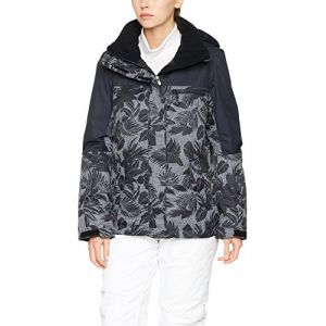 Roxy Jetty Block Veste Femme, Anthracite/Pattern 1, FR : S (Taille Fabricant : S)