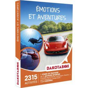 Dakota Box Emotions et aventures - Coffret cadeau 2315 activités