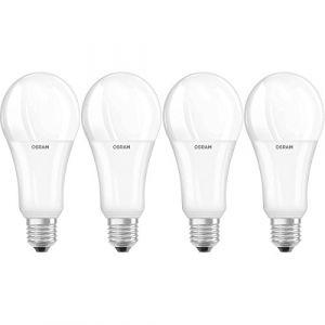 Osram LED SUPERSTAR Ampoule LED, Forme Classique, Culot E27, Dimmable, 21W Equivalent 150W, 220-240V, dépolie, Blanc Chaud 2700K, Lot de 4 pièces