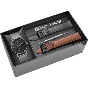 Pierre Lannier 378A438 - Coffret montre pour homme avec 3 bracelets