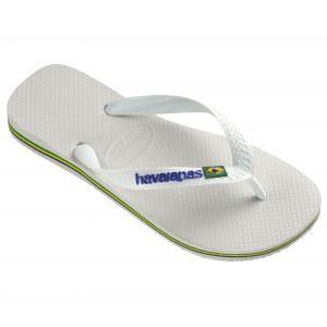 Havaianas Tongs Brasil Logo White Unisex