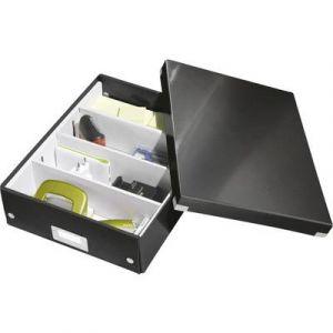 Leitz 6058-00-95 - Boîte de rangement Click & Store, moyen format avec compartiments, en PP, coloris noir