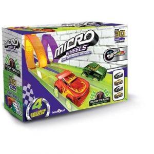 Splash Toys MICRO WHEELS Pack de micro voiture wheels super - 2 loops + 2 garages + 4 voitures - Pour faire la course et des loopings