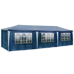 TecTake Pavillon de jardin bleu 9 m x 3 m x 2,50 m