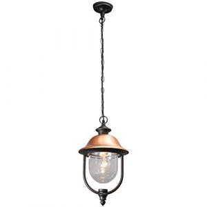 """MW-Light Lampe Suspension Extérieur """"Knox"""" Noir"""