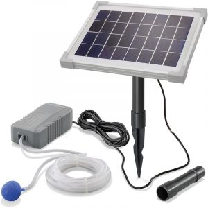 Esotec Aérateur de bassin solaire 5W 130 l/h pompe aération de bassin oxygène 101842