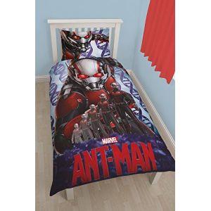Character World Parure de lit Ant-Man 3D Marvel (135 x 200 cm)