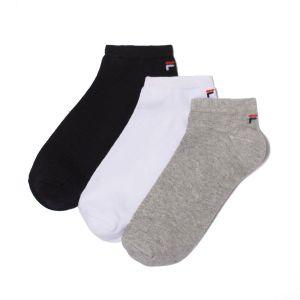 FILA Soquettes (lot de 3) gris + blanc + noir Gris + Blanc + Noir - Taille 35/38;39/42;43/46