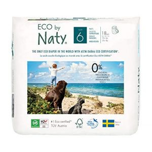 Naty Naty by - Culottes d'Apprentissage Écologiques Jetables - Taille 6 Extra Large - Poids: 16+ Kg - 18 Couches