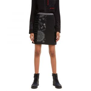 Desigual Skirt Craig Jupe, Noir (Negro 2000), Medium Femme