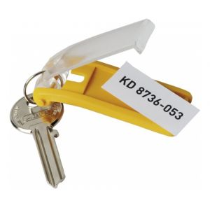 Durable Sachet de 6 porte-clés KEYCLIP 68 x 25mm coloris assortis