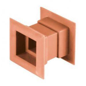 Awenta 4pcs mini carré grille d'aération de la porte de ventilation interne de la couverture de couleur orange