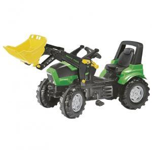 Rolly Toys Tracteur à pédales Deutz-Fahr avec chargeur
