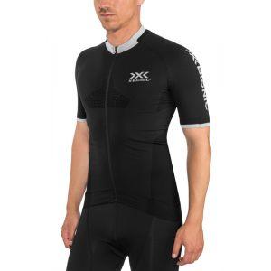 X-Bionic Invent 4.0 Bike Race Maillot Manches courtes Zip Homme, black melange S Maillots manches courtes sport