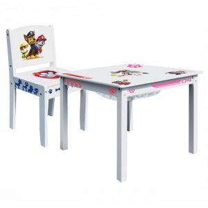 Room Studio Ensemble table de jeu et 1 chaise Pat'Patrouille