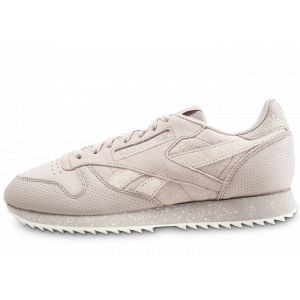 Reebok Classic Leather Ripple SM, Sneakers Basses Homme, Gris (Sand Stone/Chalk), 40 EU
