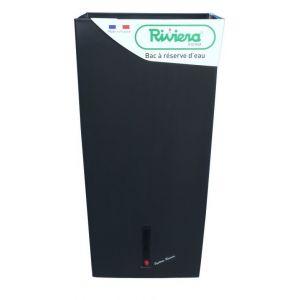 Riviera Pot plastique à réserve d'eau L.28 x l.28 x H.52 cm noir