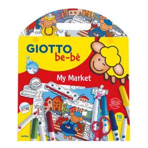 Giotto Coffret de coloriage et découpage Be-bè My market