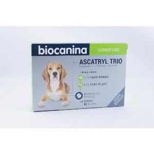 Biocanina Ascatryl Trio - Vermifuge pour chien 10 kg (2 comprimés)