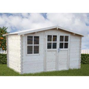 Chalet et Jardin Abri en bois 4x3m 28mm 10,44m²