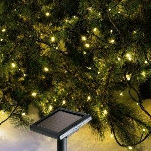Guirlande lumineuse Solaire 15 m Blanc chaud 150 LED