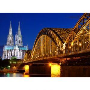 Grafika Puzzle Cathédrale et Pont Hohenzollern de Cologne 24 pièces