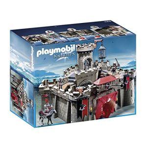 Playmobil 5357 Knights - Piste de joute du chevalier Cheval ardent