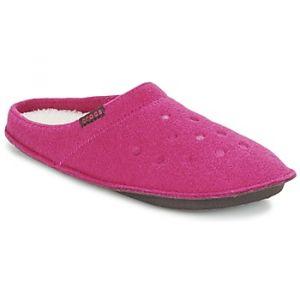 Crocs Classic Slipper, Chaussons Mixte Adulte - Rose (Candy Pink/Oatmeal), 41-42 EU (M7/W8 UK)