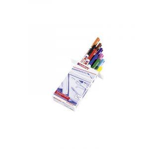 Edding Marqueur permanent 4-400999 noir, rouge, jaune, orange, bleu, vert, marron, violet, rose, bleu clair résiste à l'