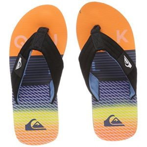 Image de Quiksilver Molokai Layback, Tongs Garçon, Multicolore (Black/Orange/Blue-Combo Xknb), 30 EU