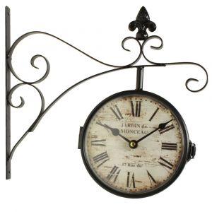 Décoration d/'Autrefois Horloge Ancienne Balancier Jardin De Monceau 58cm
