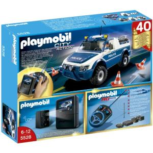 Playmobil 5528 City Action - 4x4 de police radiocommandé avec caméra