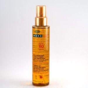 Nuxe Sun Huile bronzante visage et corps Faible protection SPF 10