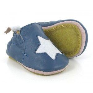 Easy Peasy Blublu etoile, Chaussures Premiers Pas bébé garçon, Bleu (526 Denim/Inwi), 24 EU