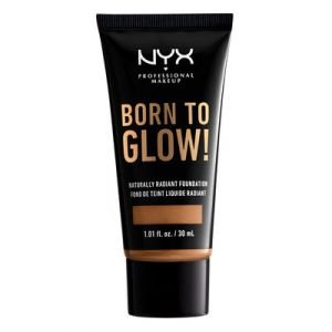 NYX Cosmetics Born To Glow Naturally Radiant Fondation - Fond de Teint Fluide - Honey - 30 ml