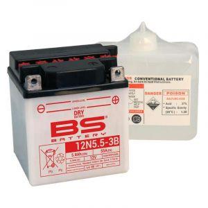 BS Battery Batterie BS 12N5.5A-3B AVEC ACIDE