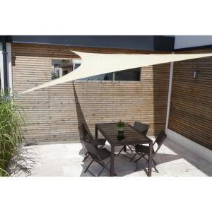 Windhager Voile ombrage Sunsail Adria triangulaire 3,6m - Roseau - En tissu HDPE 185/m² avec biais - Protection 90% contre le UV - Indéchirable - Coloris : roseau.